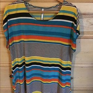 Azules Striped Long Tunic XL